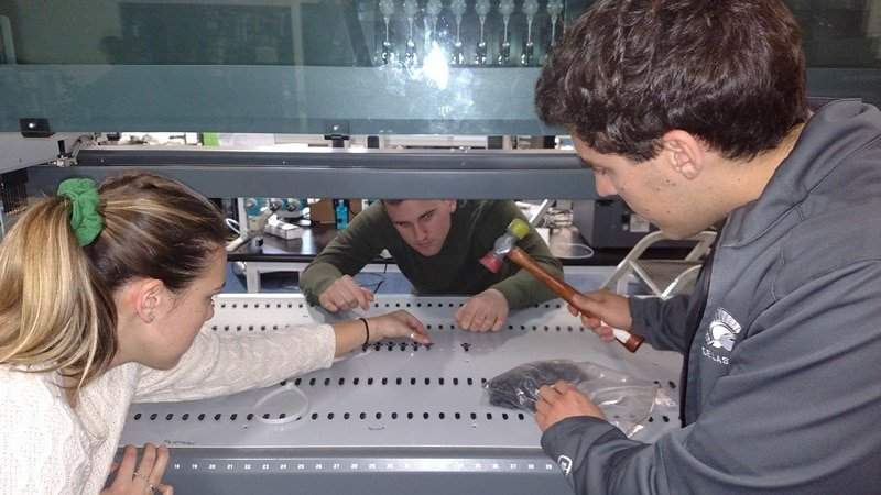 ALE interns working hard to solve a difficult problem together