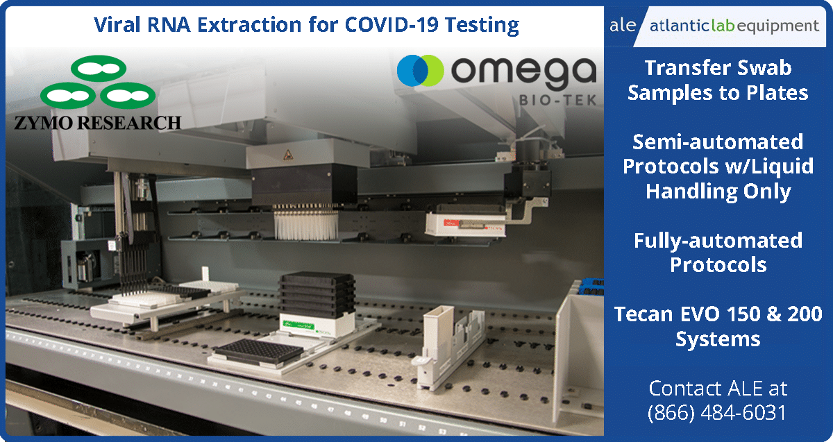 COVID-19 Sample Prep Solutions - RNA Extraction - Swab Sample to Plate Transfers - PCR Prep - TECAN Freedom EVO 150 & 200 Systems